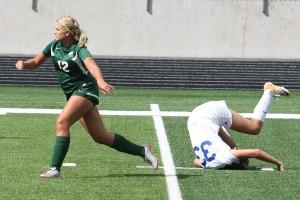 Soccer falling image